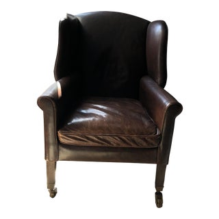 Restoration Hardware Asher Leather Chair For Sale
