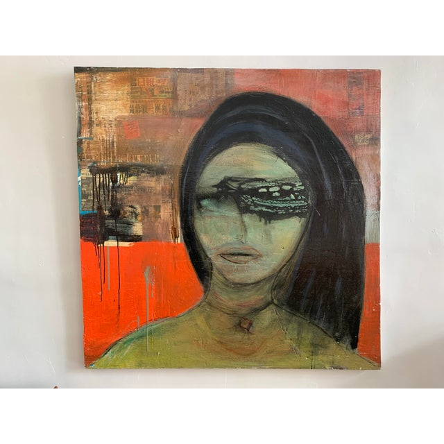 Large James Swinson Acrylic on Plywood & Plaster Painting For Sale - Image 11 of 11