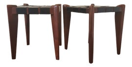Image of Leather Low Stools