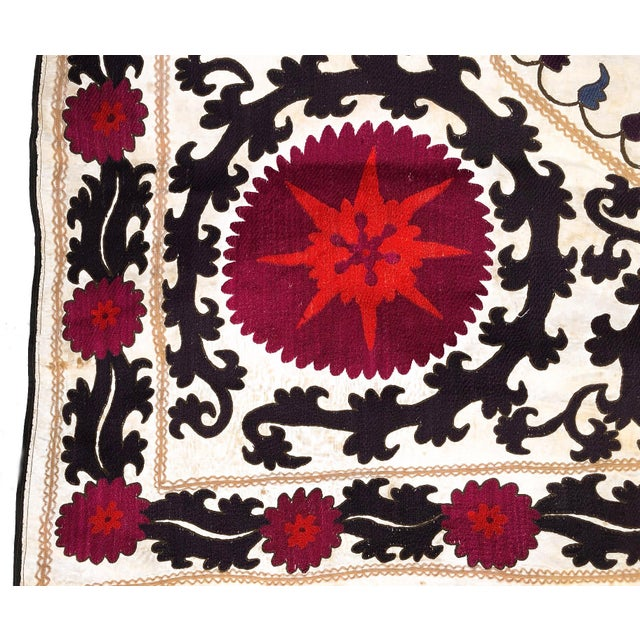 Antique Double Joynamoz Suzani Embroidery For Sale - Image 4 of 8