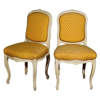 French Louis XV Style Boudoir Chairs - A Pair For Sale