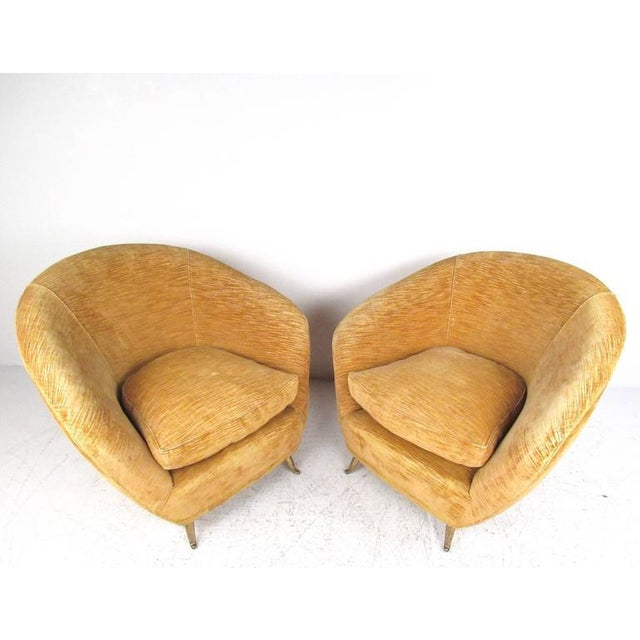 Mid-Century Modern Marco Zanuso Style Lounge Chairs - a Pair For Sale - Image 3 of 10