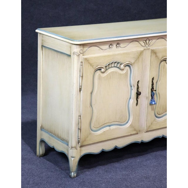 1950s French Louis XV Style Paint Decorated Sideboard For Sale - Image 5 of 8