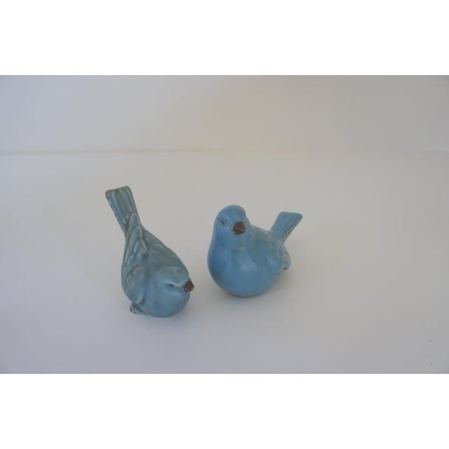Vintage Ceramic Blue Birds - A Pair For Sale - Image 4 of 5