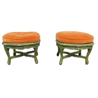 20th Century Louis XVI Style Footstools - a Pair For Sale