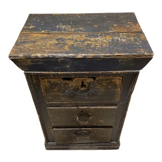 Late 19th Century Belgium Painted Chest For Sale