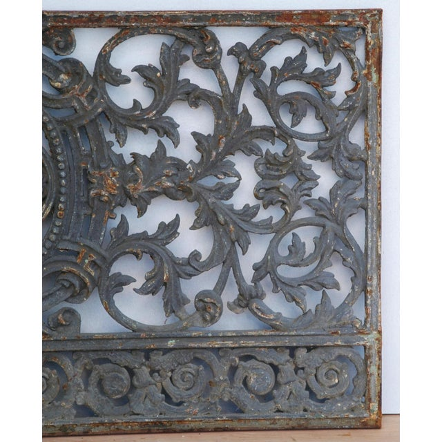 Antique 19th C. French Iron Architectural Panel - Image 11 of 11