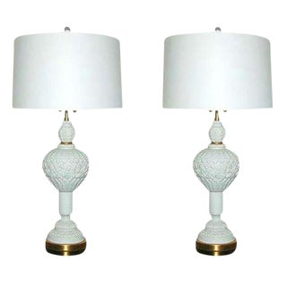 Marbro Blanc De Chine Table Lamps White For Sale