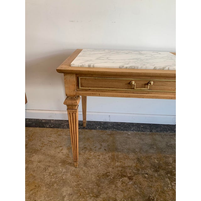 Traditional Sofa Console with Marble Top For Sale - Image 9 of 10