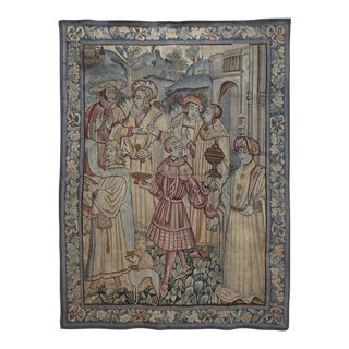19th Century Flemish Renaissance Tapestry For Sale