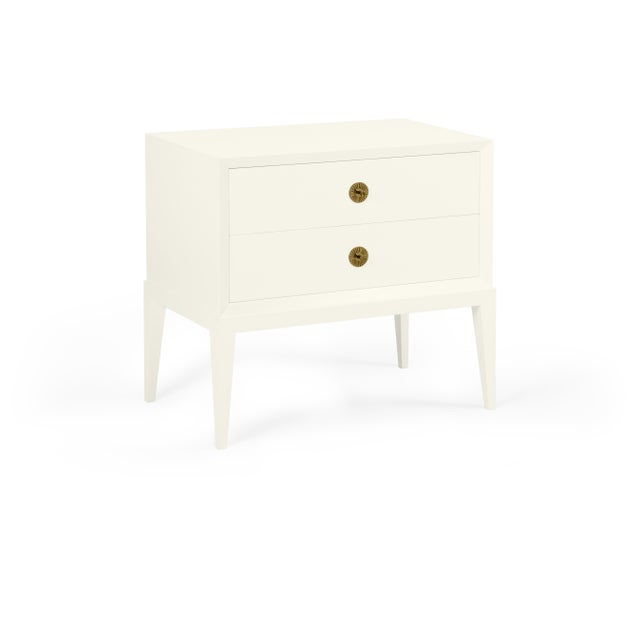 Transitional Casa Cosima Hayes 2-Drawer Side Chest, Cloud White For Sale - Image 3 of 3