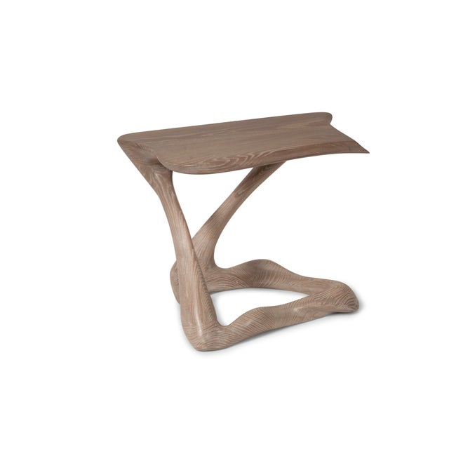 Gray Amorph Tryst Side Table in Gray Custom Stain For Sale - Image 8 of 9