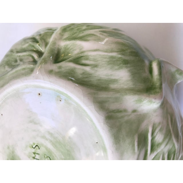 Ceramic Cabbage Shaped Lidded Soup Bowl For Sale - Image 7 of 10