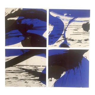 Vintage 1960's Mid-Century Modern Theo Braun Abstract Aquatint Prints - Set of 4