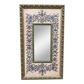 Late 20th Century Eastern European Floral Wall Mirror For Sale