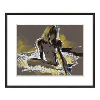Figure 4 by David Orrin Smith in Black Frame, Medium Art Print For Sale
