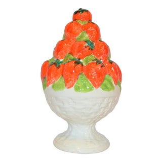 Vintage Ceramic Strawberry Topiary Tower For Sale