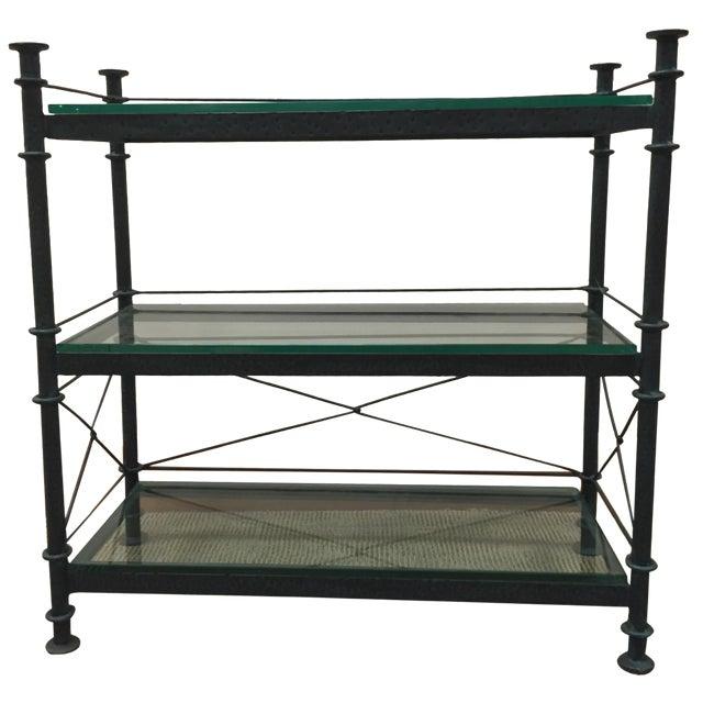 Wrought Iron & Glass Bookshelf - Image 1 of 4