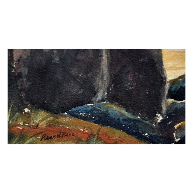 Robert Price Watercolor of Point Lobos Sunset For Sale - Image 4 of 4