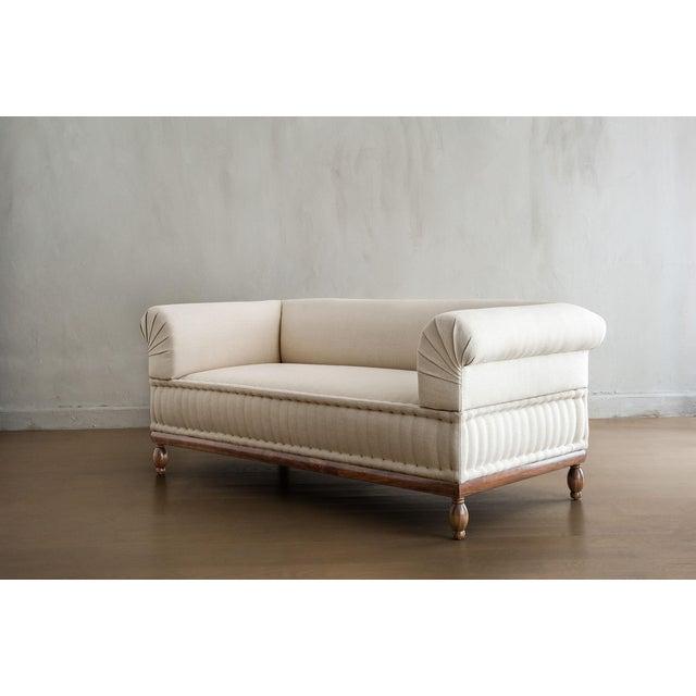 Mid-Century Modern Brampton - Pleated Sofa For Sale - Image 3 of 8