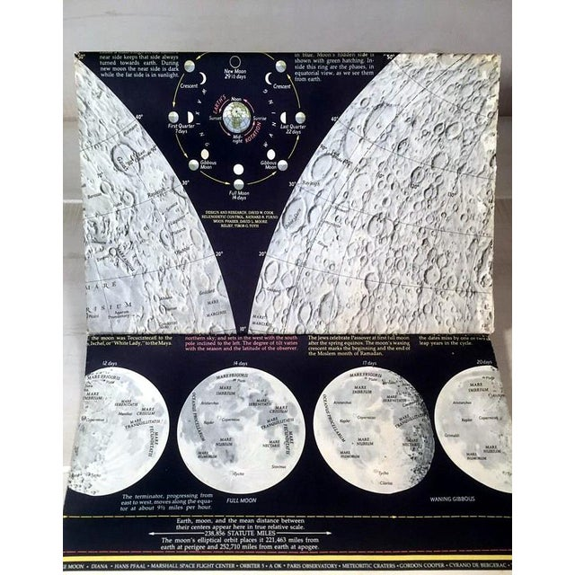 "1969 National Geographic ""The Earth's Moon"" Map - Image 3 of 8"