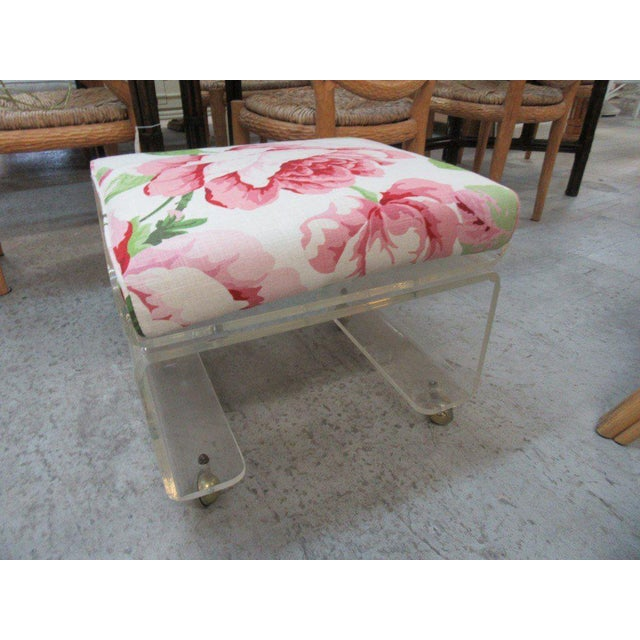 Pagoda Lucite Bench Stool - Image 3 of 6