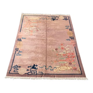 1920s Art Deco Design Chinese Rug- 9'x12' For Sale