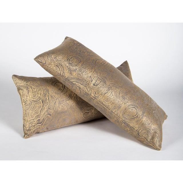 Iridescent Agate Lumbar Pillow For Sale - Image 4 of 9