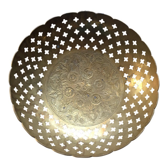Brass Bowl With Quatrefoil Detail - Image 1 of 11