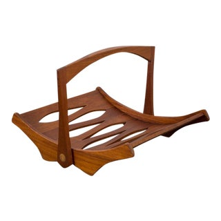 Jens Quistgaard Danish Modern Teak Magazine Holder