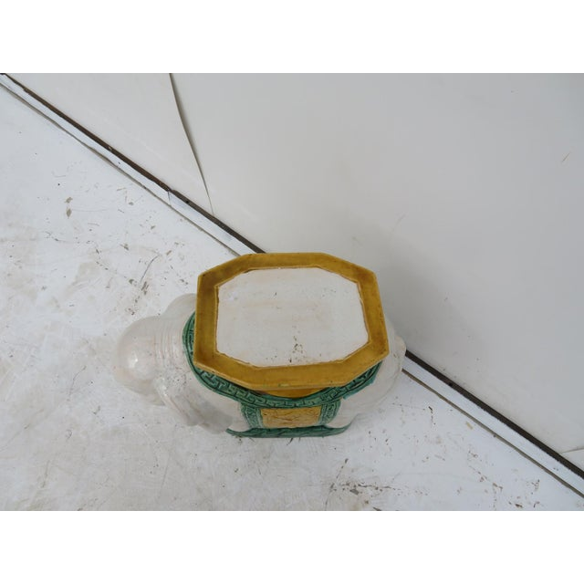 Elephant Pottery Garden Stool For Sale - Image 4 of 4