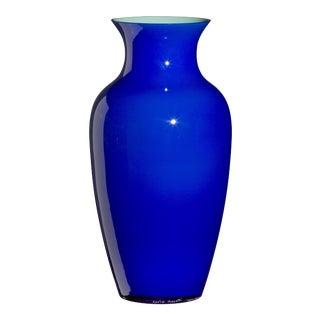 Carlo Moretti Cinesi Vase in Cobalt Blue For Sale