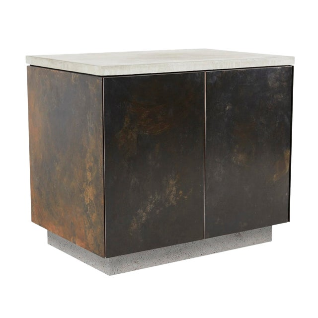 s.o. Side Table With Cabinet Doors For Sale