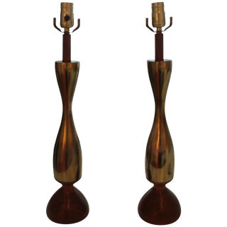 1960s Vintage Tony Paul Lamps - a Pair For Sale