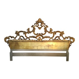 Carved Gilt Headboard - King For Sale