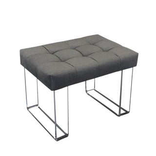 Infinity Style Gray Velvet and Lucite Bench For Sale