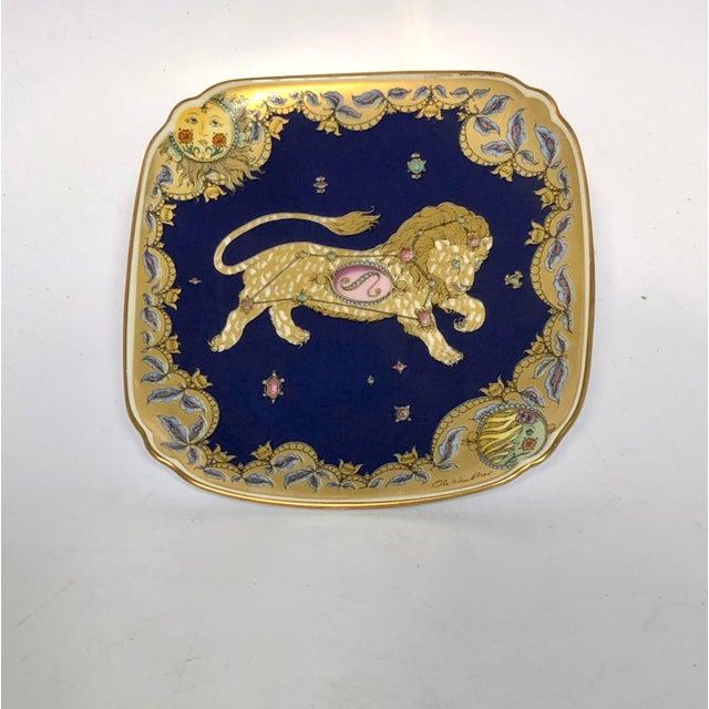 Leo Zodiac Porcelain Plate For Sale - Image 6 of 6
