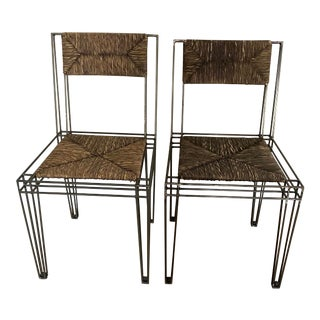 Casamidy Varenne Paille Dining Chairs - a Pair For Sale