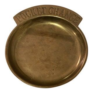 Brass Pocket Change Dish For Sale