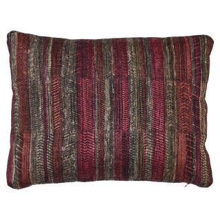 Indian Handwoven Sunset Stripes Pillow For Sale