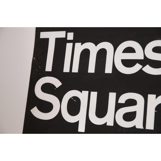 1980s Americana New York City Times Square Subway Sign For Sale In New York - Image 6 of 7