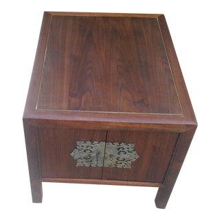 1970s Vintage Walnut End Table For Sale