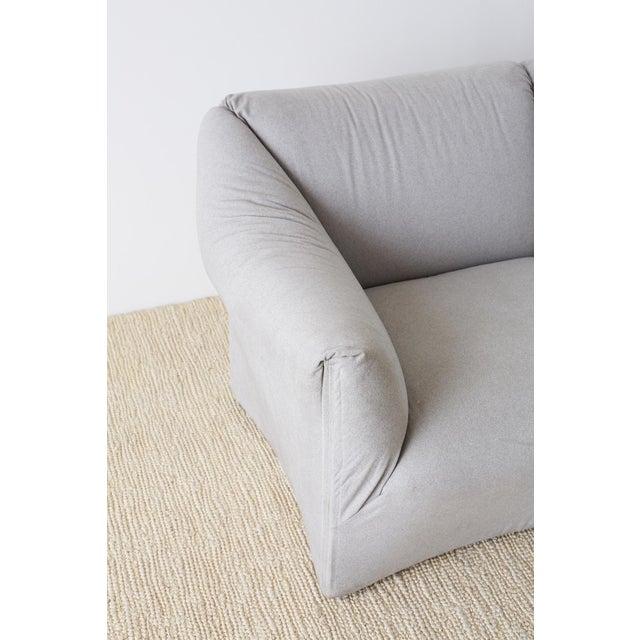 Gray Mario Bellini for Cassina Tentazione Upholstered Sofa For Sale - Image 8 of 13
