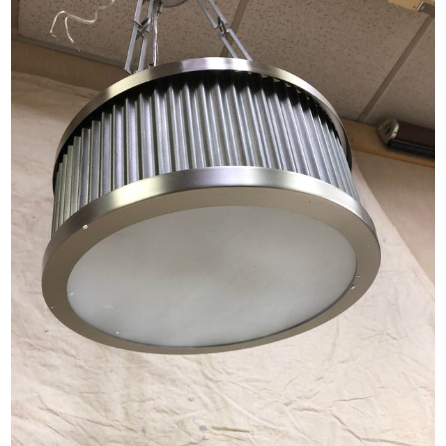 2010s Metal Ruffle 3-Light Pendant by Maxim For Sale - Image 5 of 6