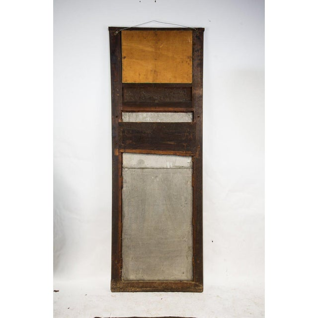 1920s French Country Oak Carved Window Mirror For Sale - Image 10 of 11