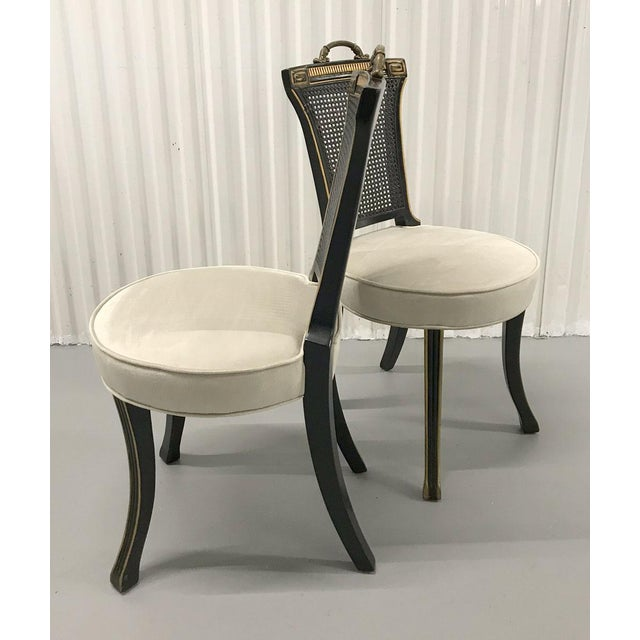 Hollywood Regency 1960s Neoclassical Side Chairs — a Pair For Sale - Image 3 of 11
