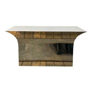 Brueton Style Polished Steel Table
