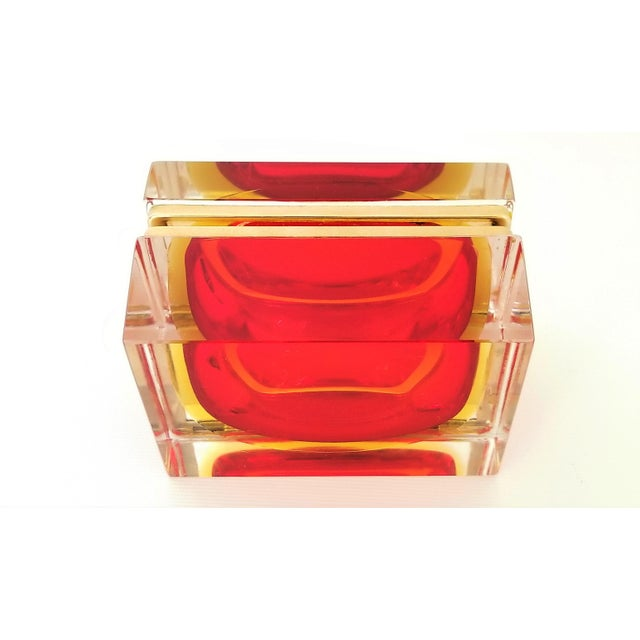 Murano Vintage 1970s Glass Jewelry Box by Alessandro Mandruzzato - Italy Italian Mid Century Modern Palm Beach Chic Tropical Coastal For Sale - Image 11 of 13