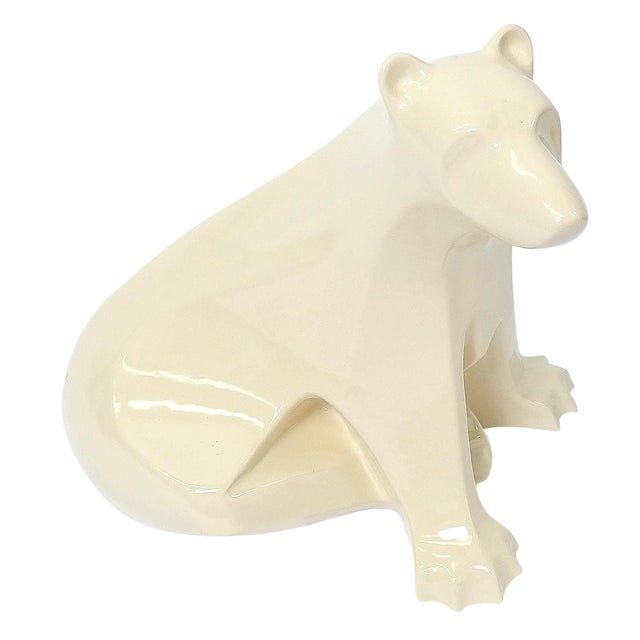 Francois Pompon Style Ceramic Polar Bear - Image 1 of 5