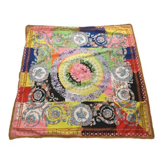 Large Custom Made Multi Color Baroque Versace Throw For Sale